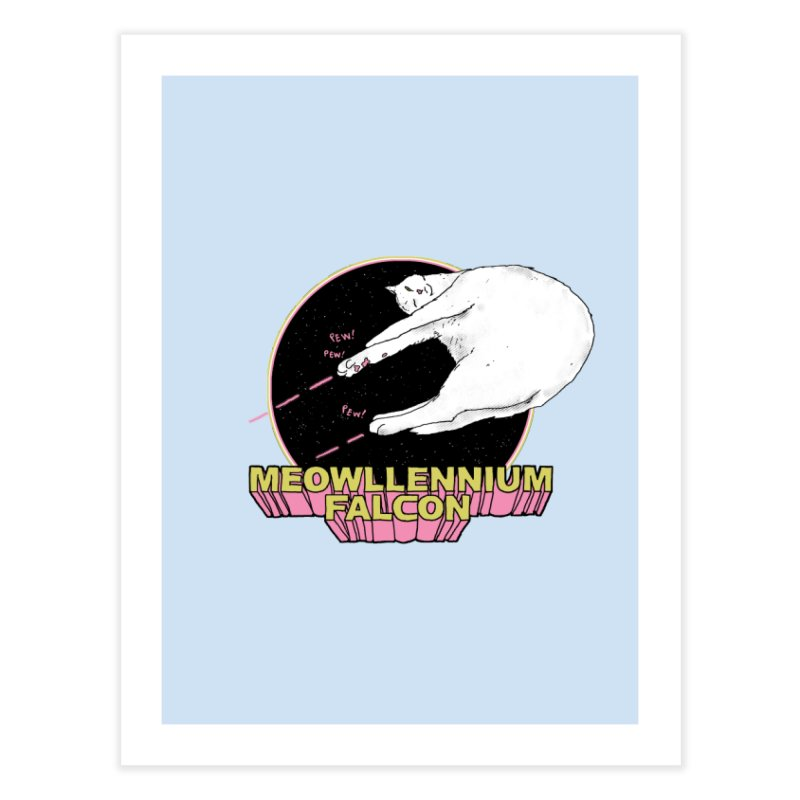 Meowllennium Falcon   by hillarywhiterabbit's Artist Shop