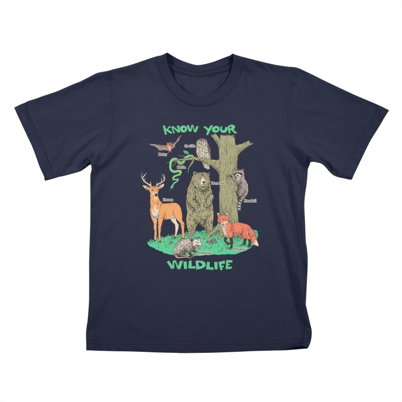 Know Your Wildlife Kids T-Shirt by Hillary White