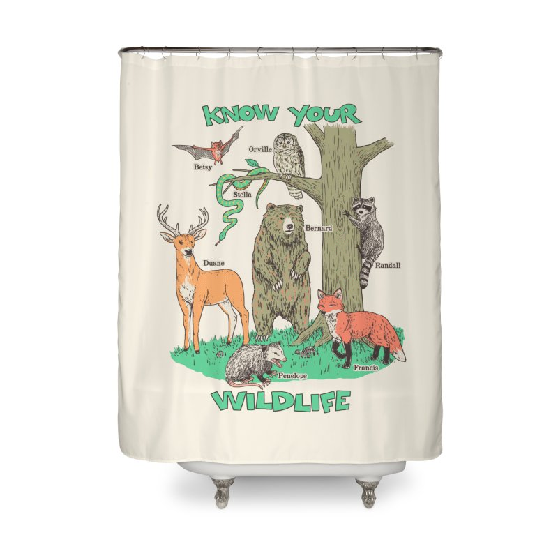 Know Your Wildlife Home Shower Curtain by Hillary White