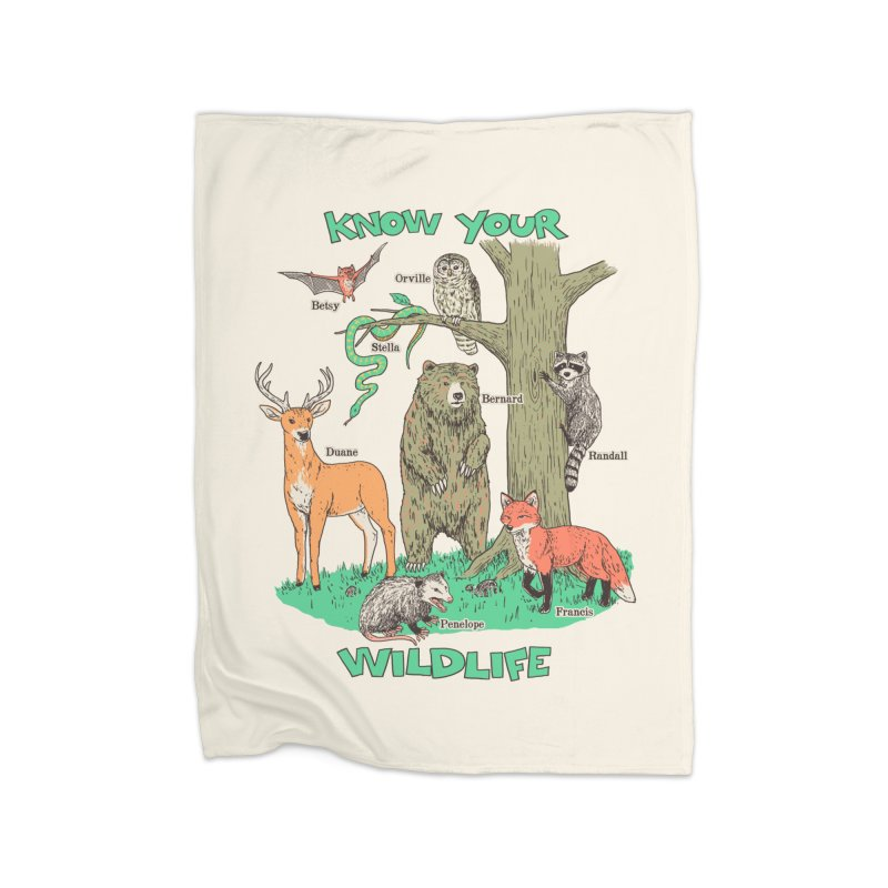 Know Your Wildlife Home Blanket by Hillary White