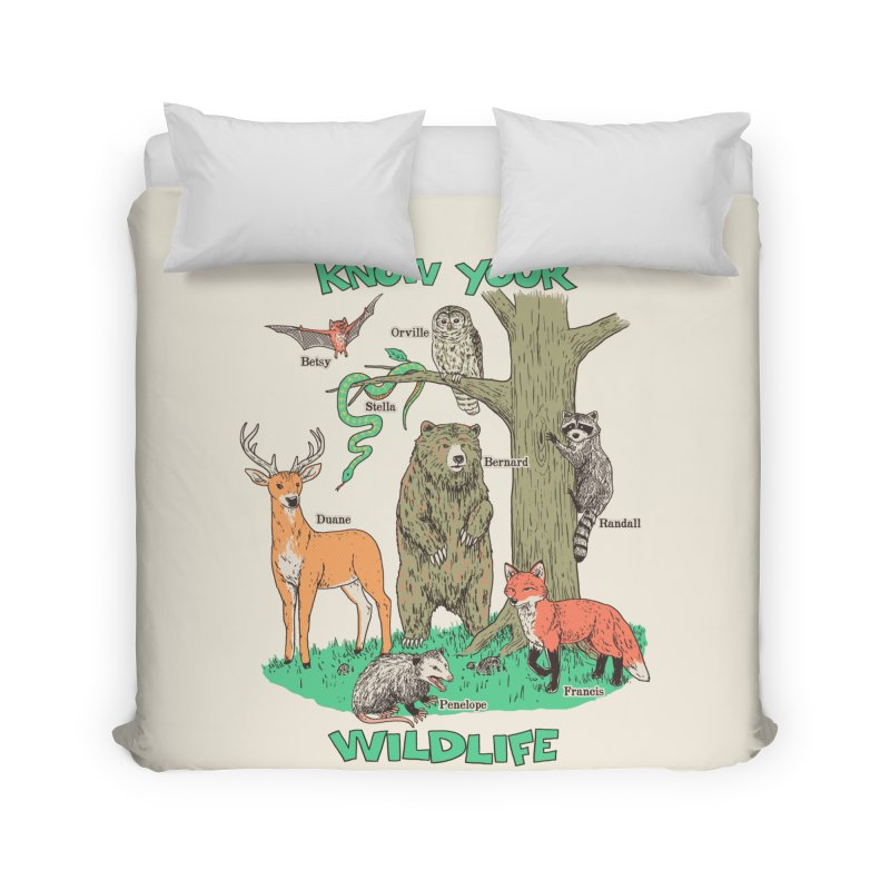 Know Your Wildlife Home Duvet by Hillary White