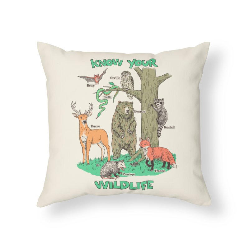 Know Your Wildlife Home Throw Pillow by Hillary White