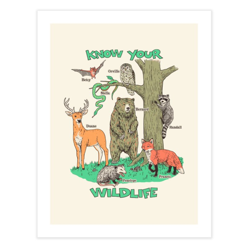 Know Your Wildlife Home Fine Art Print by Hillary White
