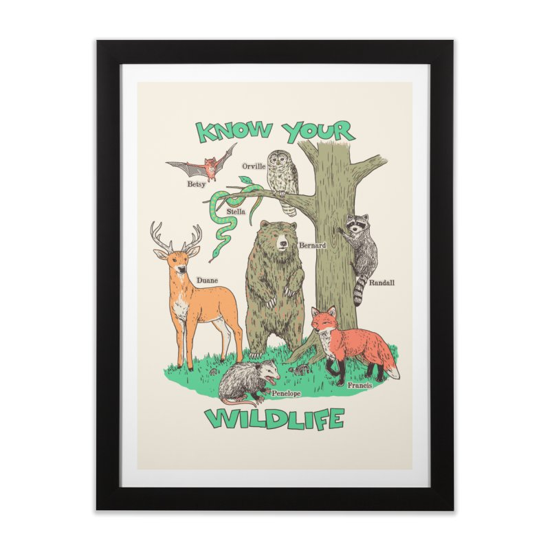 Know Your Wildlife Home Framed Fine Art Print by Hillary White