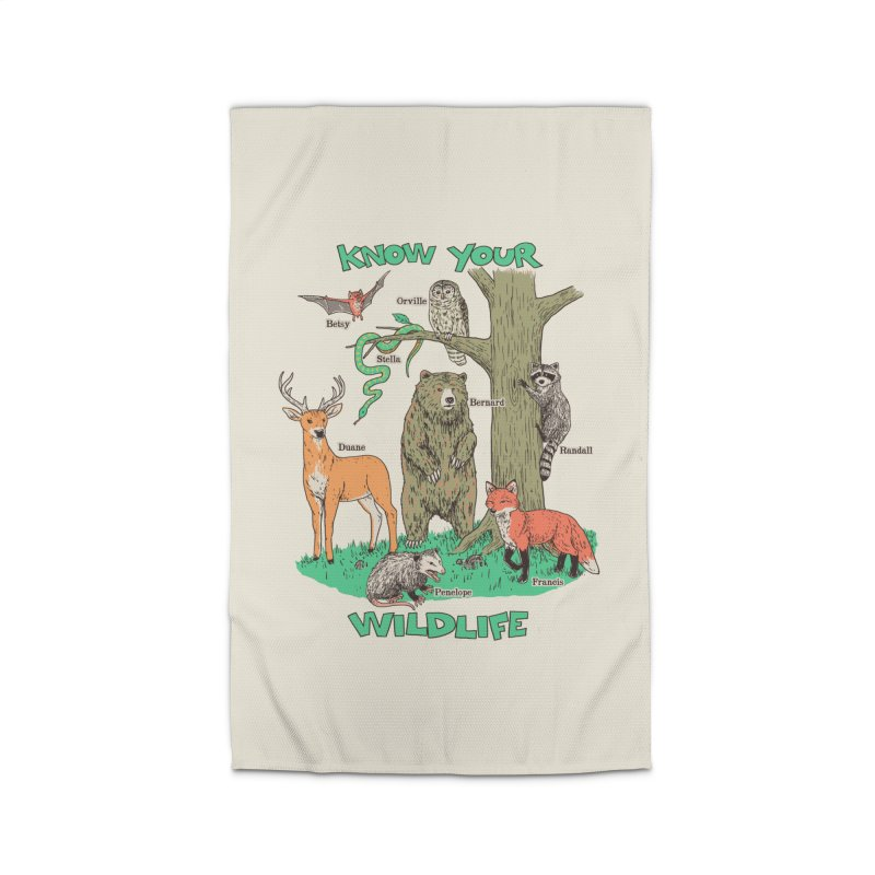 Know Your Wildlife Home Rug by Hillary White