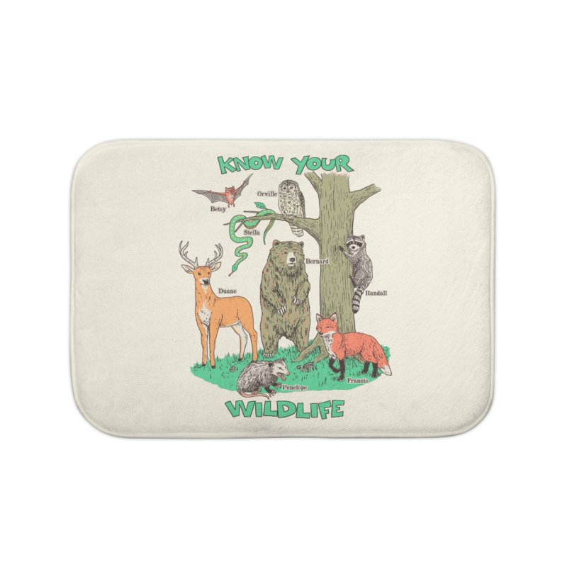 Know Your Wildlife Home Bath Mat by Hillary White