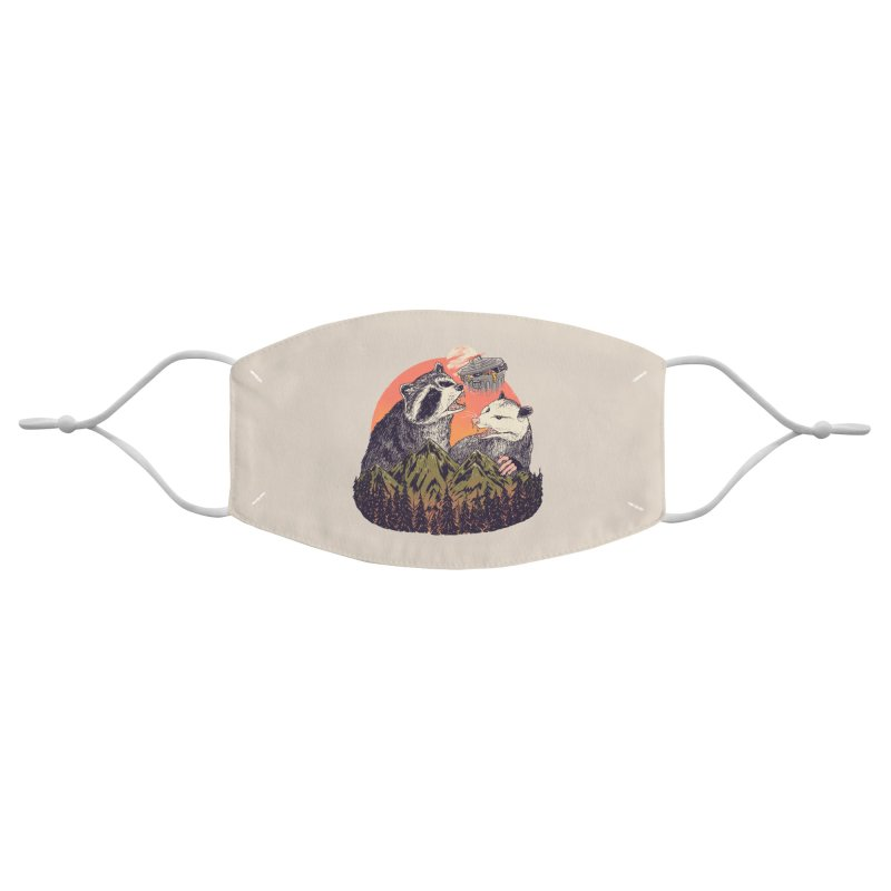 Majestic Trash Accessories Face Mask by Hillary White Rabbit
