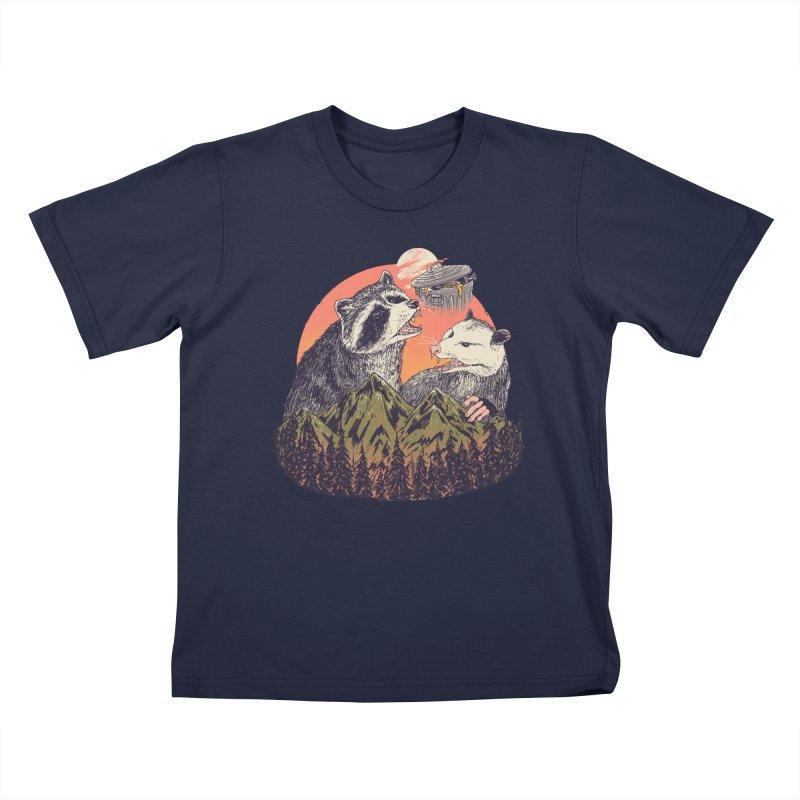 Majestic Trash Kids T-Shirt by Hillary White