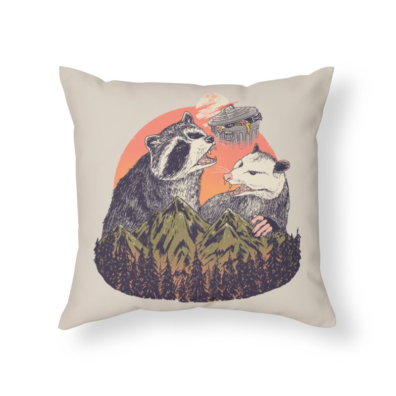 Majestic Trash Home Throw Pillow by Hillary White