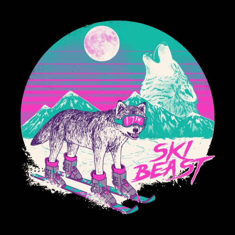 Ski Beast Home Stretched Canvas by Hillary White
