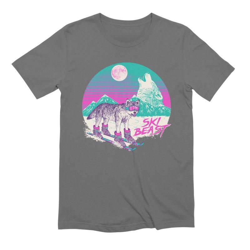 Ski Beast Men's T-Shirt by Hillary White