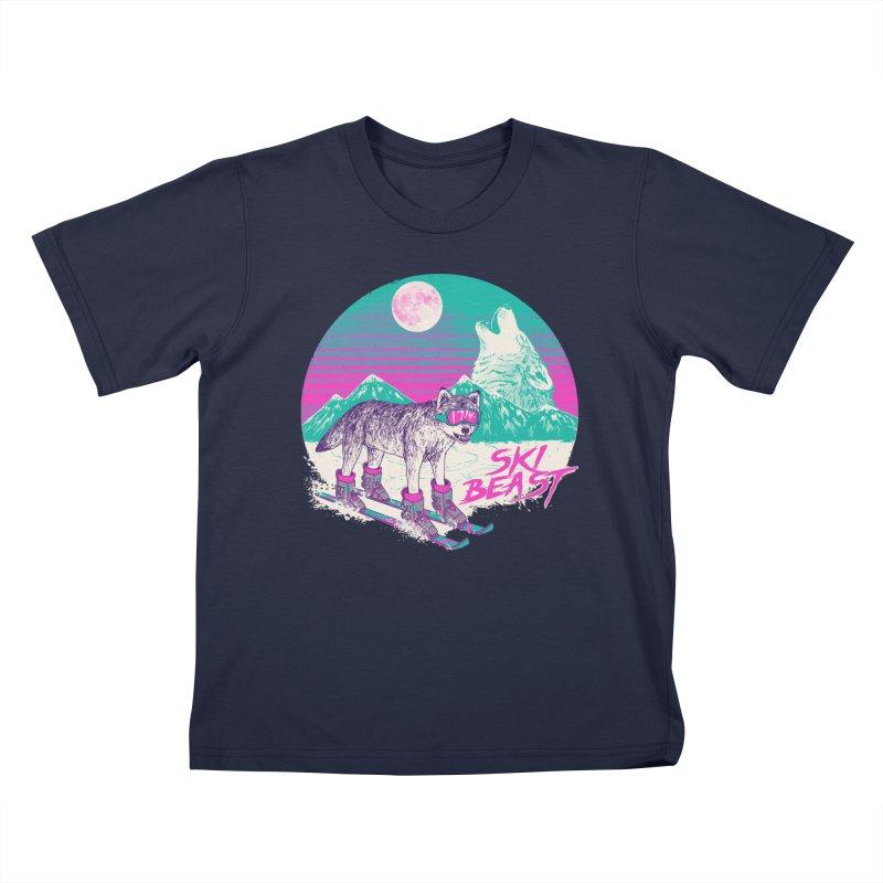 Ski Beast Kids T-Shirt by Hillary White