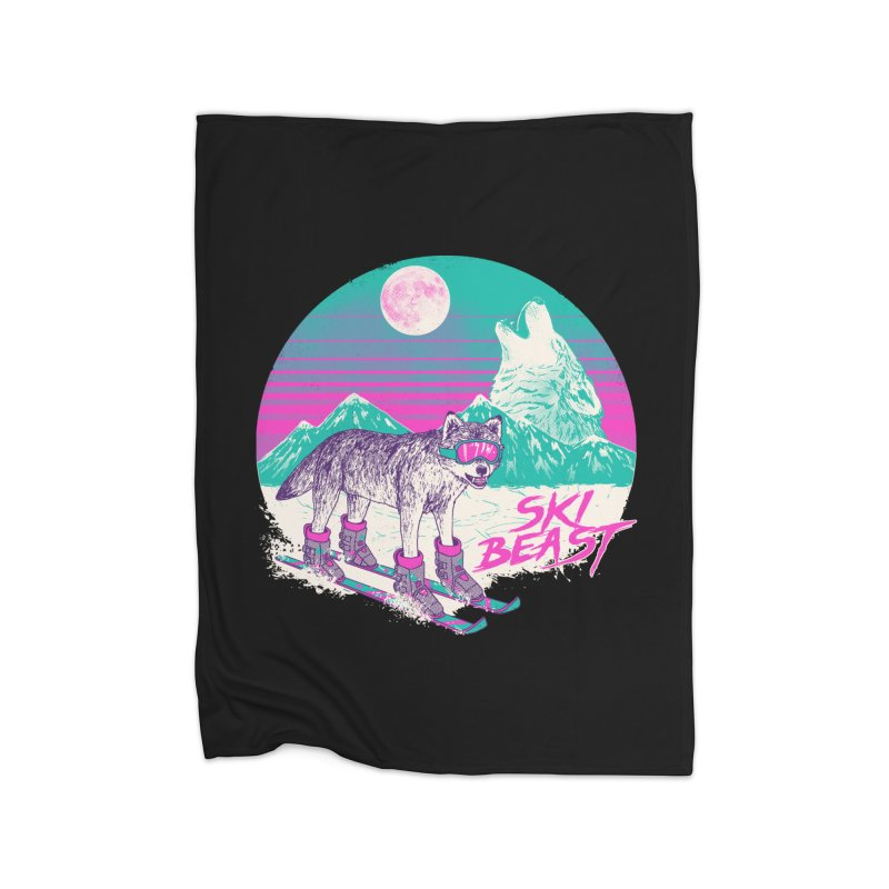 Ski Beast Home Blanket by Hillary White