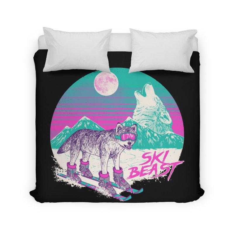 Ski Beast Home Duvet by Hillary White