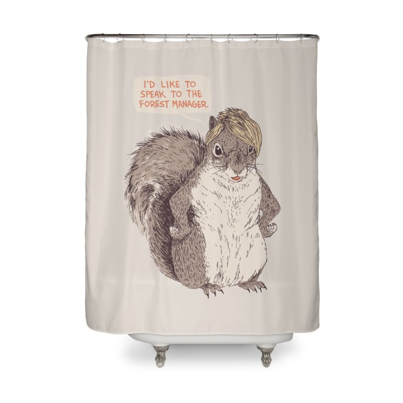Forest Manager Home Shower Curtain by Hillary White
