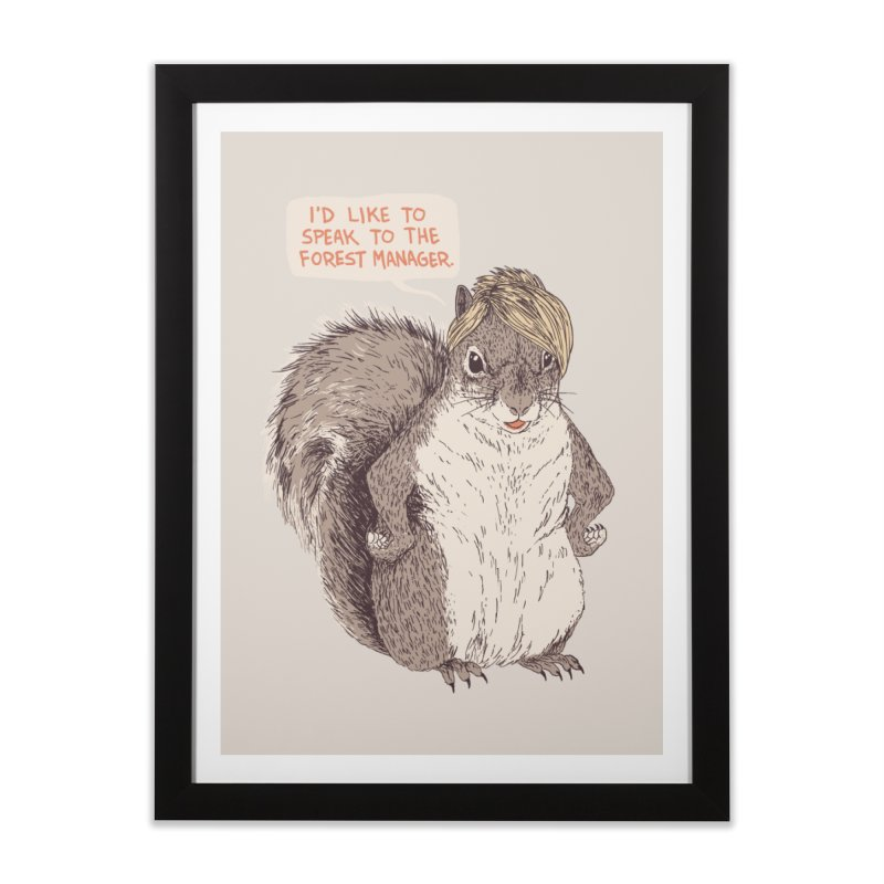 Forest Manager Home Framed Fine Art Print by Hillary White