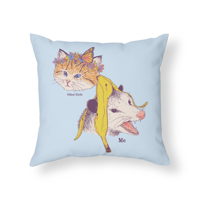 Not Like Other Girls Home Throw Pillow by Hillary White