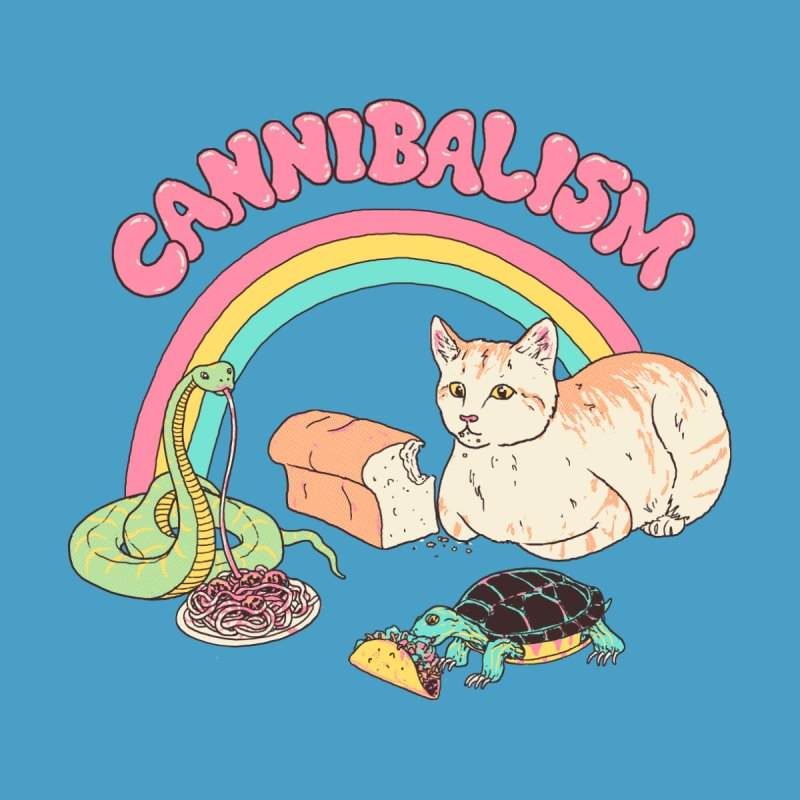 Cannibalism Men's T-Shirt by Hillary White Rabbit