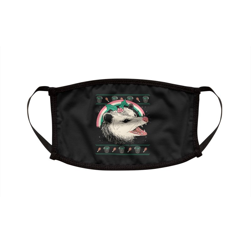 Trash The Halls Accessories Face Mask by Hillary White