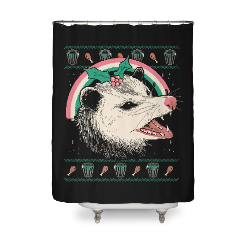 Trash The Halls Home Shower Curtain by Hillary White