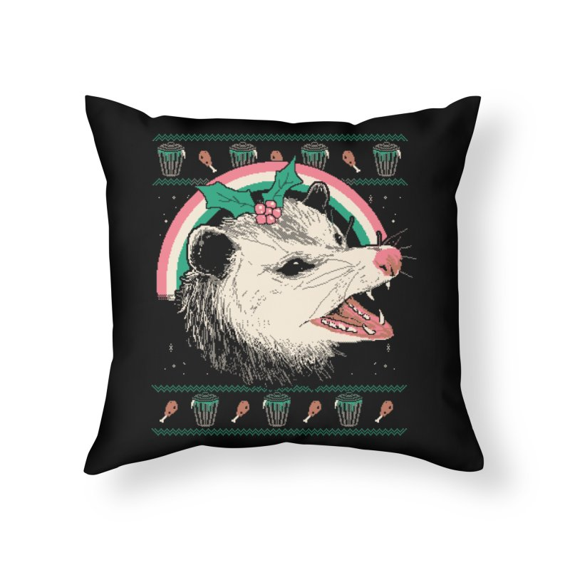 Trash The Halls Home Throw Pillow by Hillary White
