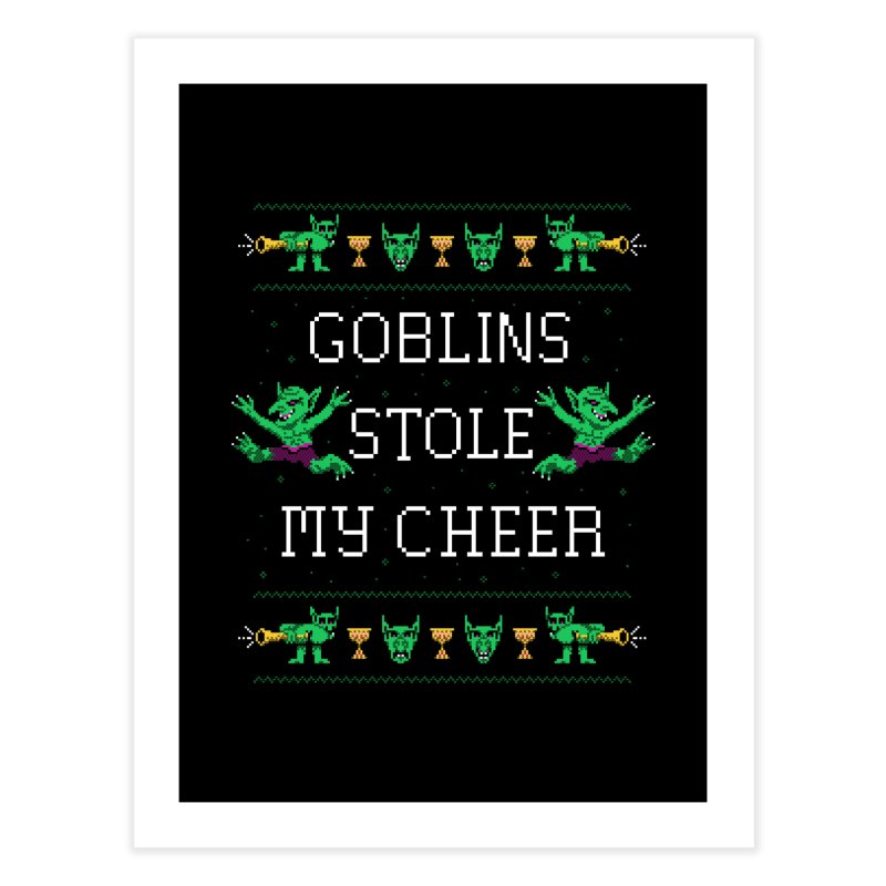 Goblins Stole My Cheer Home Fine Art Print by Hillary White Rabbit