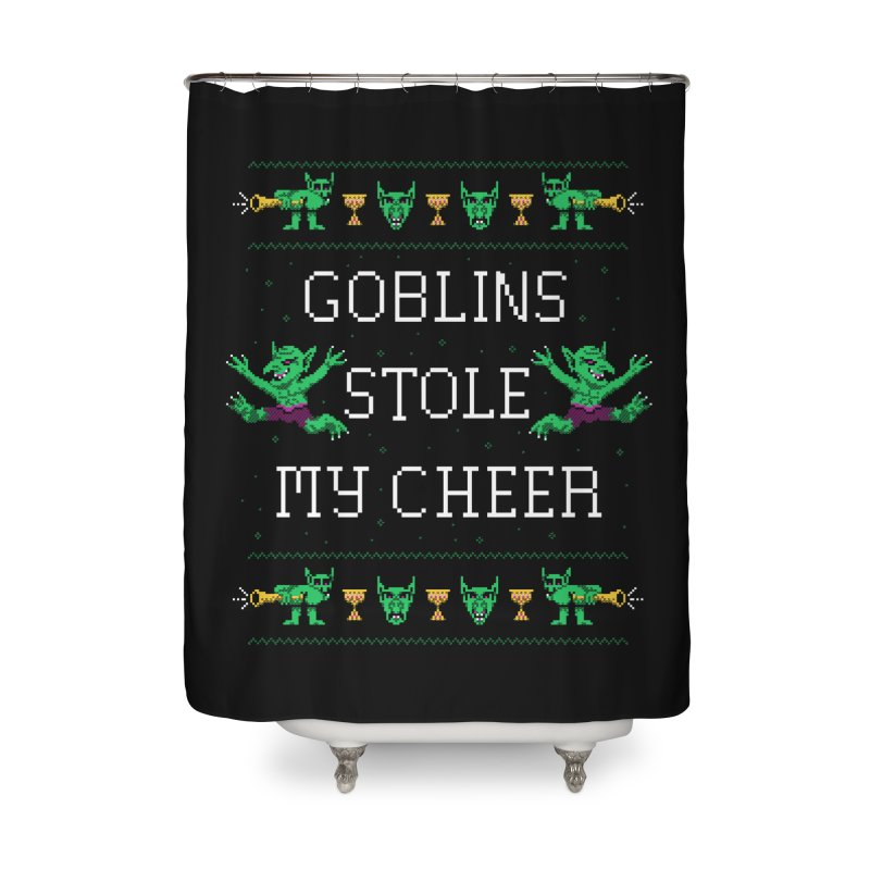 Goblins Stole My Cheer Home Shower Curtain by Hillary White