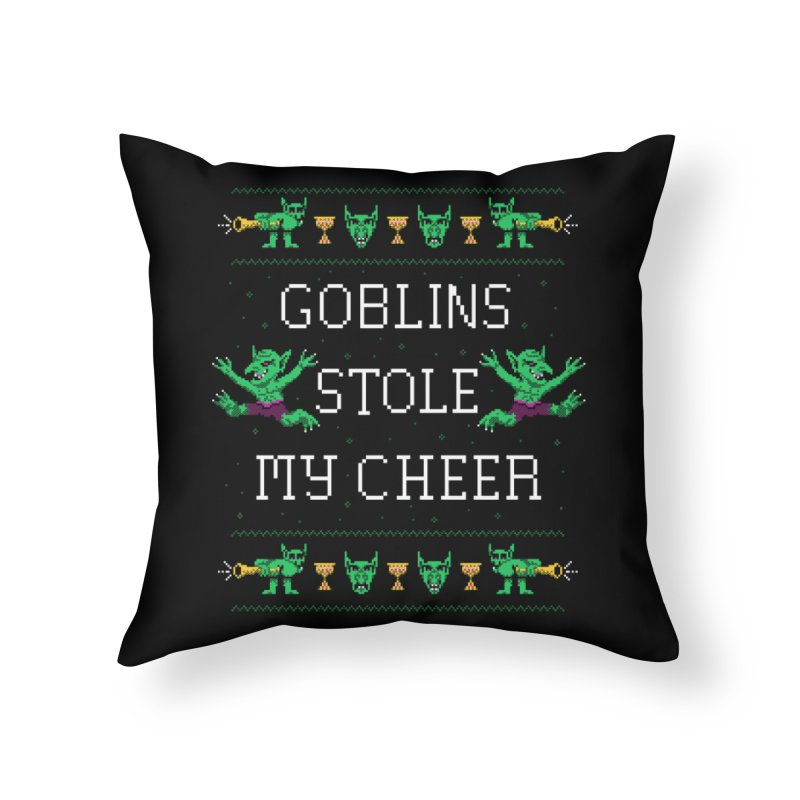 Goblins Stole My Cheer Home Throw Pillow by Hillary White