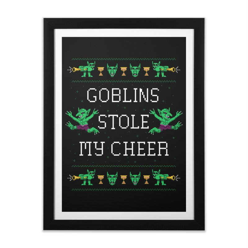 Goblins Stole My Cheer Home Framed Fine Art Print by Hillary White
