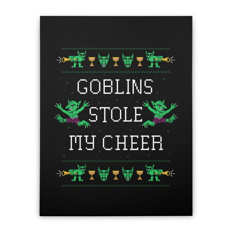Goblins Stole My Cheer Home Stretched Canvas by Hillary White