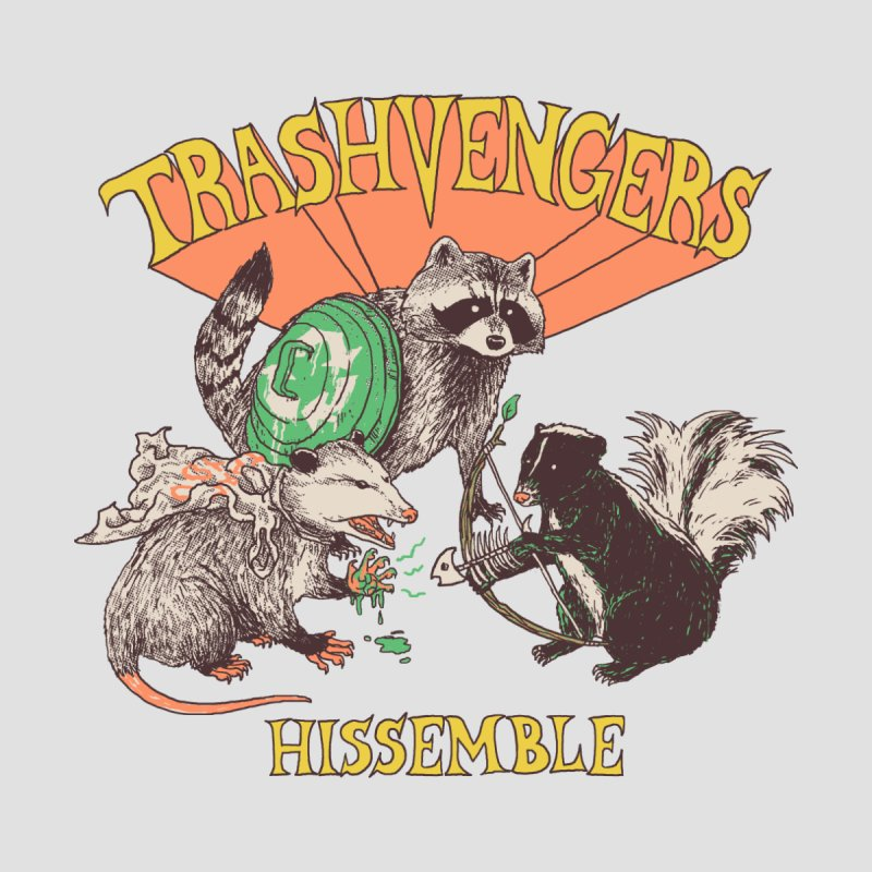 Trashvengers Women's V-Neck by Hillary White Rabbit