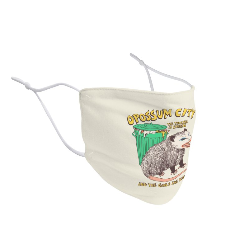 Opossum City Accessories Face Mask by Hillary White Rabbit
