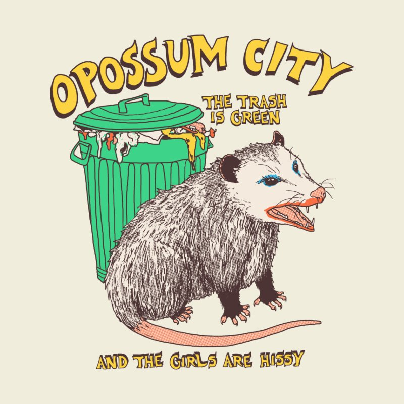 Opossum City Accessories Face Mask by Hillary White