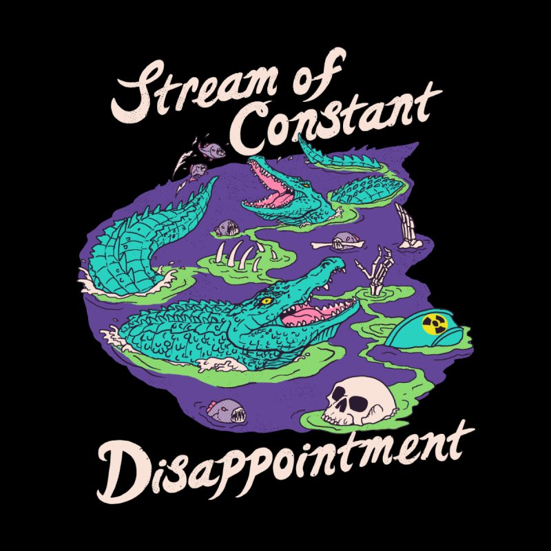 Stream Of Constant Disappointment Accessories Skateboard by Hillary White Rabbit