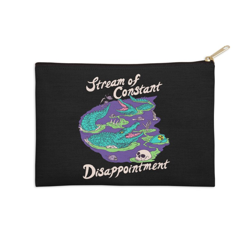 Stream Of Constant Disappointment Accessories Zip Pouch by Hillary White Rabbit