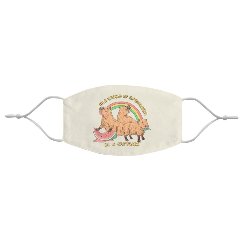 Be A Capybara Accessories Face Mask by Hillary White Rabbit