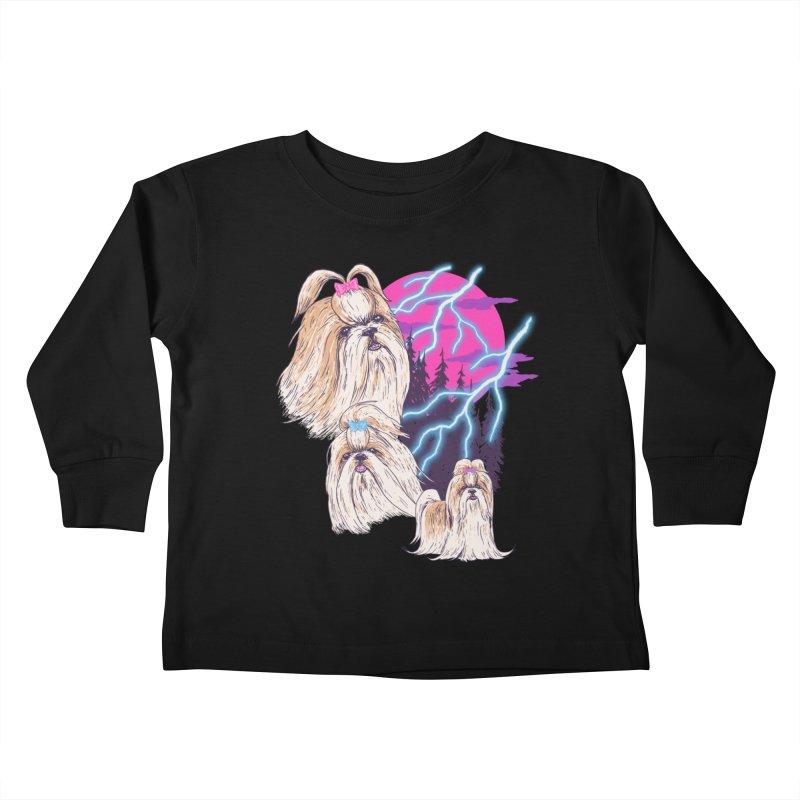 Lightning Shih Tzu Kids Toddler Longsleeve T-Shirt by Hillary White Rabbit