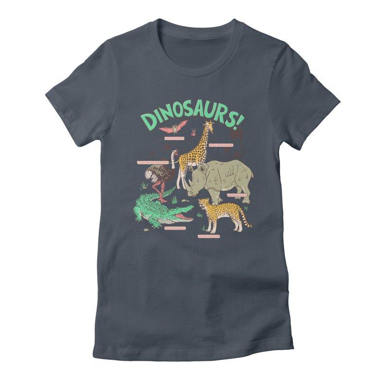 Dinosaurs! Women's T-Shirt by Hillary White Rabbit