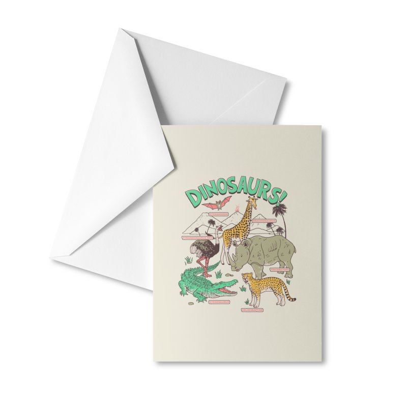 Dinosaurs! Accessories Greeting Card by Hillary White Rabbit