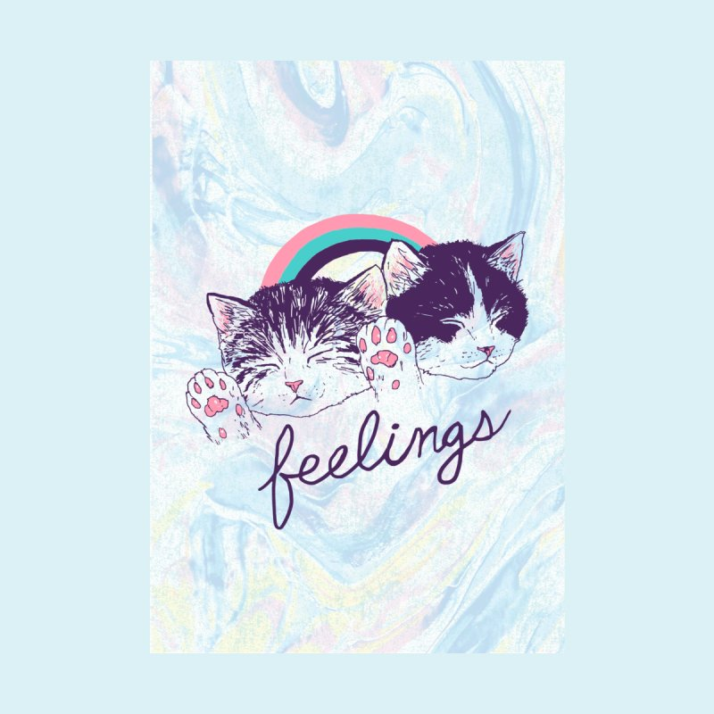 feelings - cut & sew Accessories Greeting Card by Hillary White Rabbit
