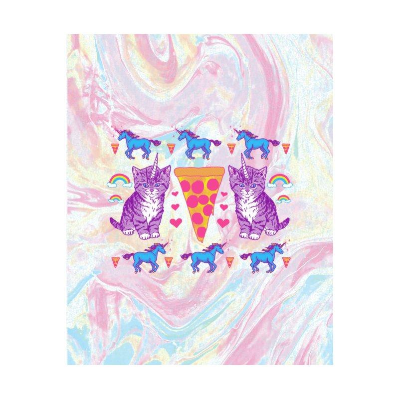 Kittycorn Pizza Rainbows - Cut & Sew Accessories Greeting Card by Hillary White Rabbit
