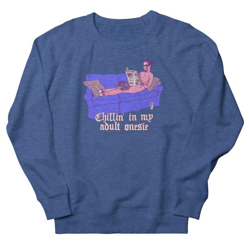 Chillin' In My Adult Onesie Men's Sweatshirt by Hillary White Rabbit