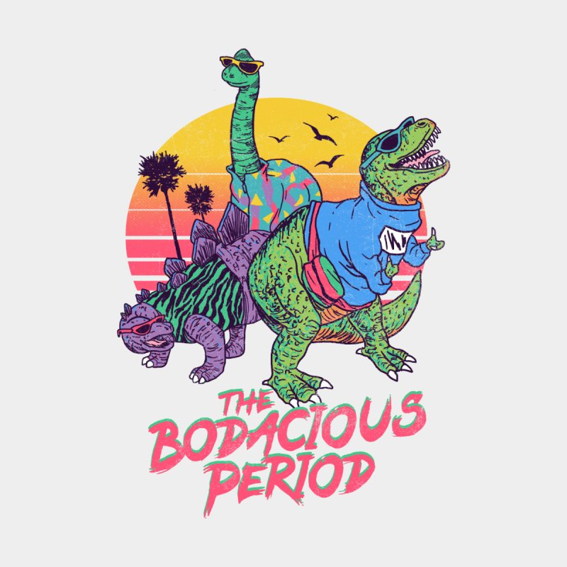 The Bodacious Period Accessories Greeting Card by Hillary White