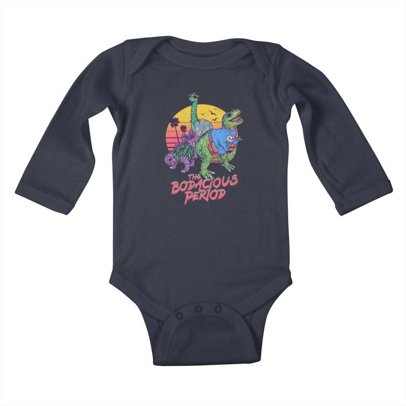 The Bodacious Period Kids Baby Longsleeve Bodysuit by Hillary White Rabbit