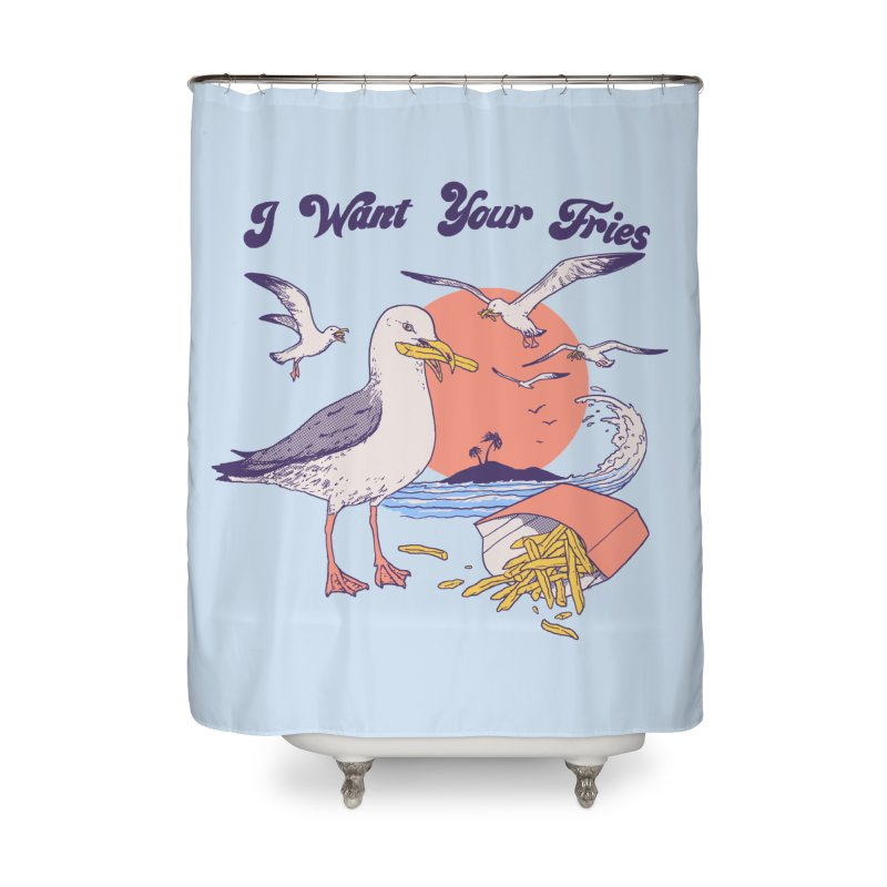 I Want Your Fries Home Shower Curtain by Hillary White Rabbit