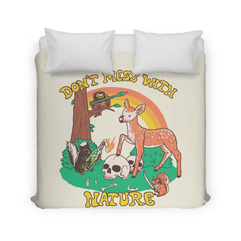 Don't Mess With Nature Home Duvet by Hillary White Rabbit