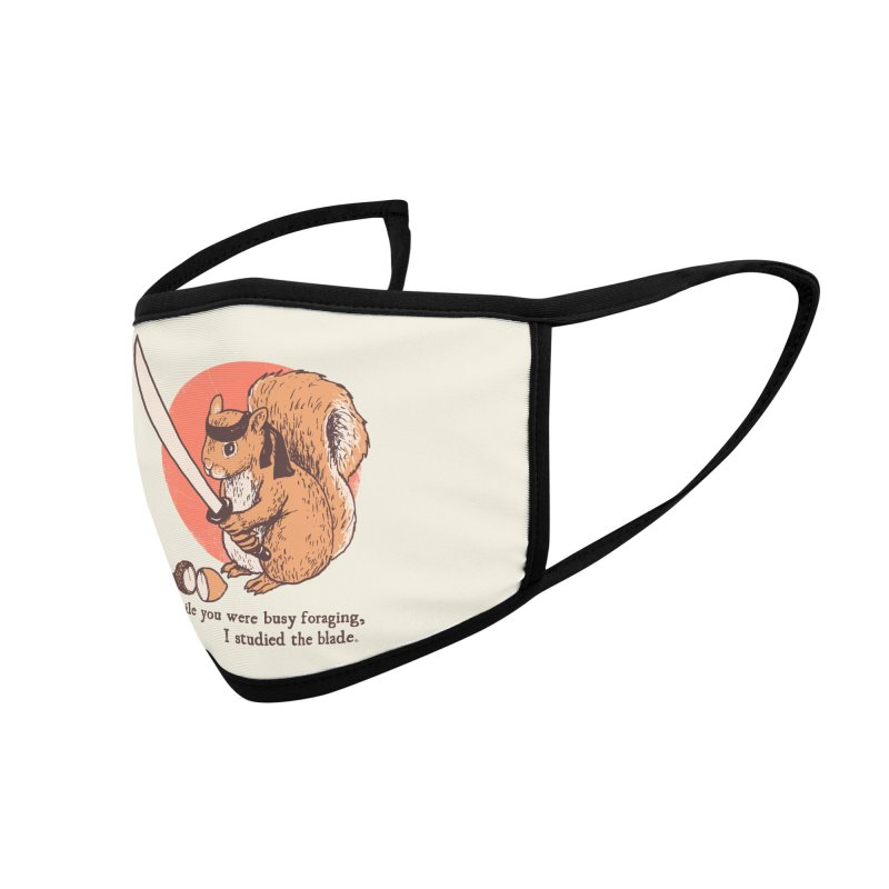 Squirrel Blade Accessories Face Mask by Hillary White Rabbit