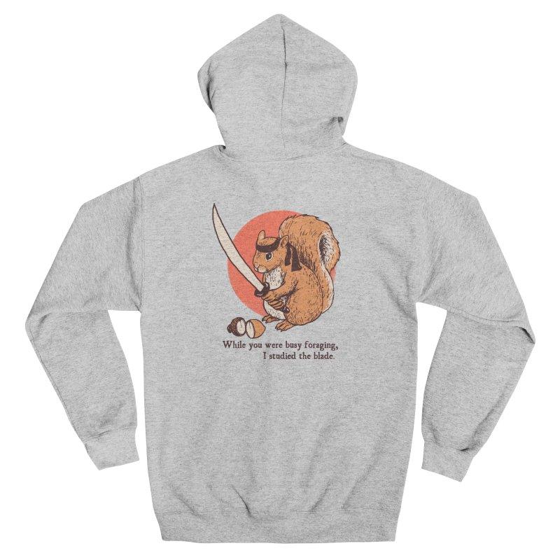 Squirrel Blade Men's Zip-Up Hoody by Hillary White Rabbit