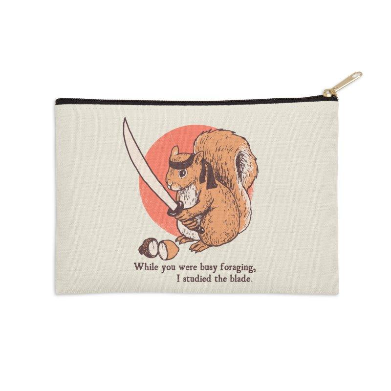 Squirrel Blade Accessories Zip Pouch by Hillary White Rabbit