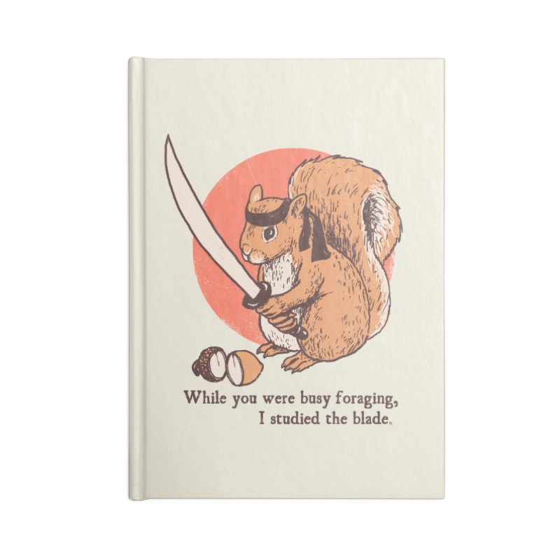 Squirrel Blade Accessories Notebook by Hillary White Rabbit